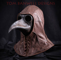 Plague Doctor Mask and Leather Hood
