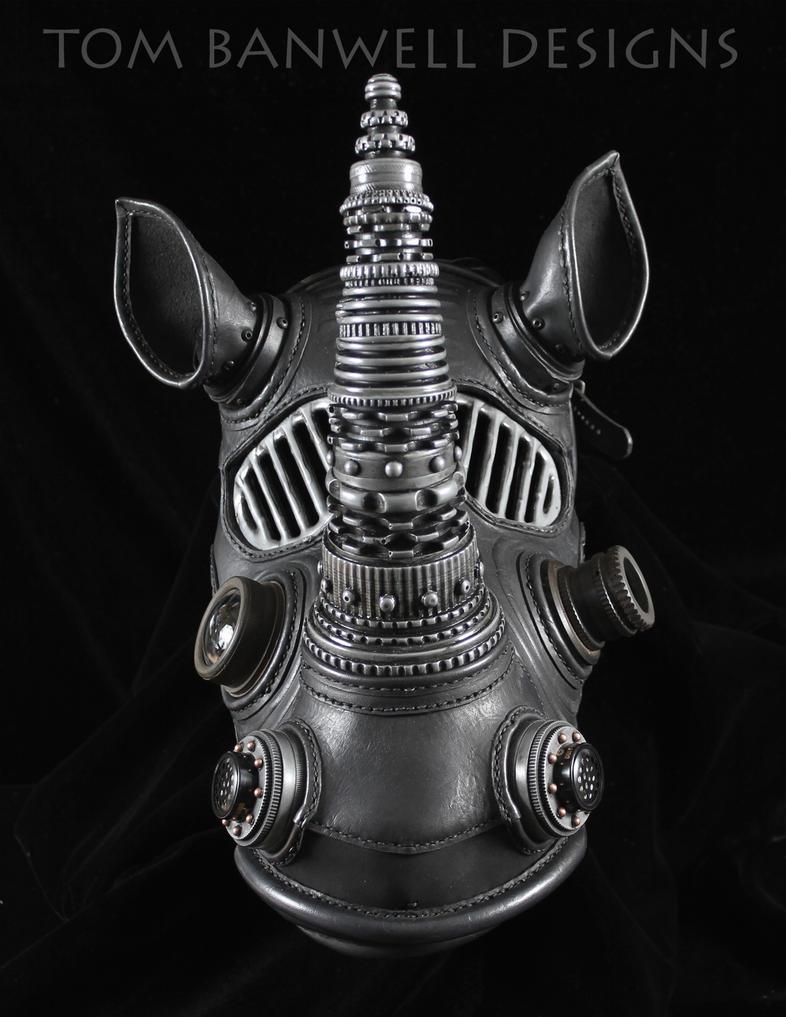 Black Rhino mask by TomBanwell