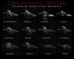 Tom Banwell Plague Doctor Masks