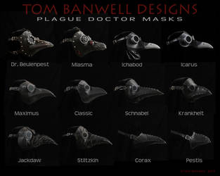 Tom Banwell Plague Doctor Masks by TomBanwell