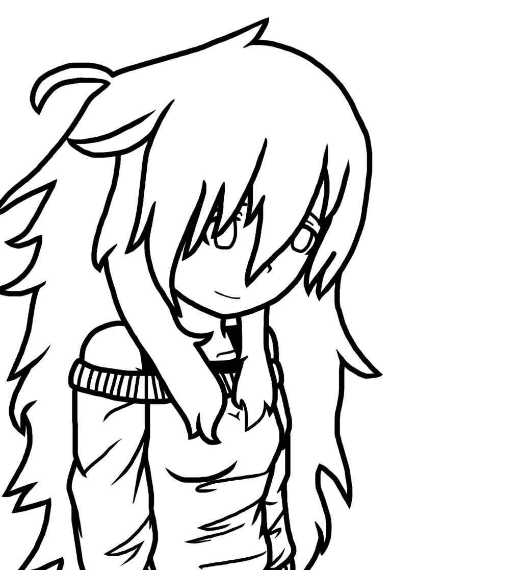 human anime flaky  outline  by costa17 on deviantart