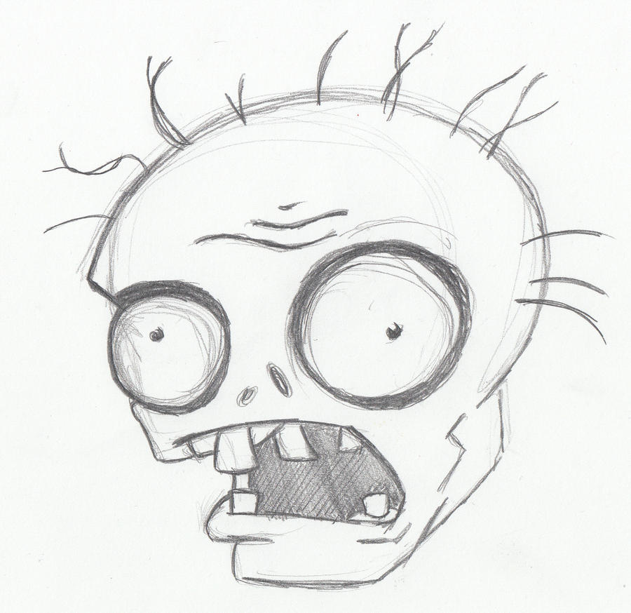 Uncategorized Simple Zombie Drawing plants vs zombie head by digitalalter on deviantart digitalalter