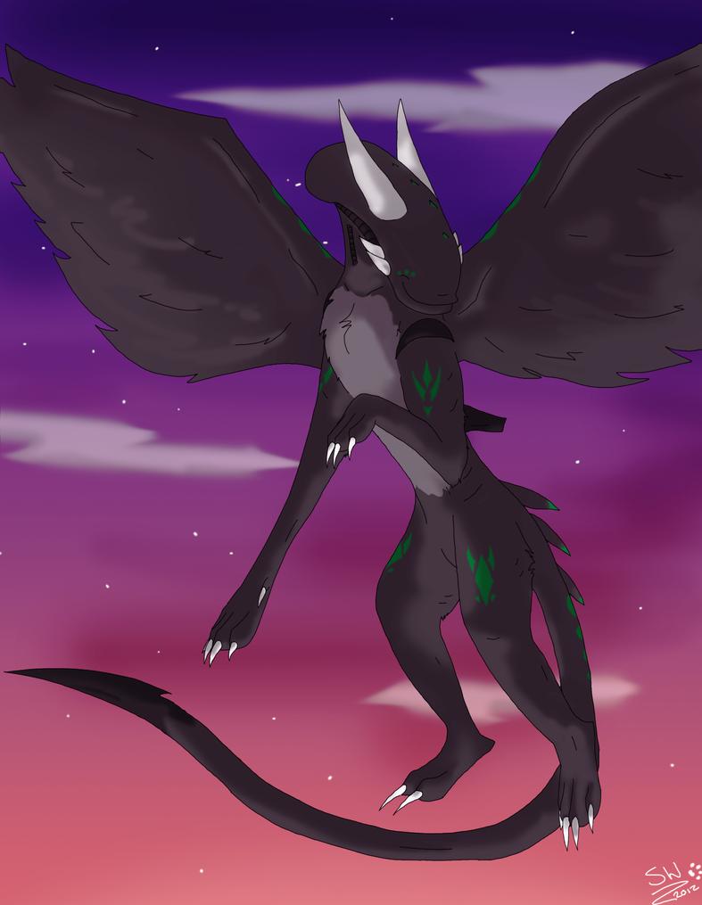 PC: Xeno-Dragon 1/2 by SheWolfey