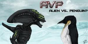 ALIEN vs ... penguin? by SheWolfey