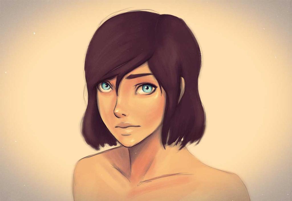 Korra's hair by ZuTarart