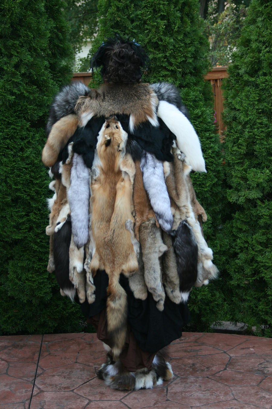 how to make a possum-skin cloak