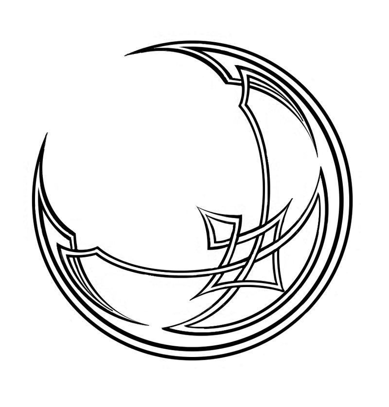 Crescent Moon Celtic Knot By JLHilton