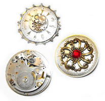 Steampunk Lapel Pins by JLHilton