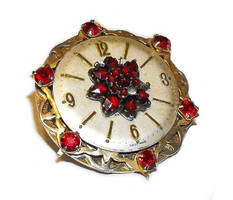 Jeweled steampunk badge by JLHilton