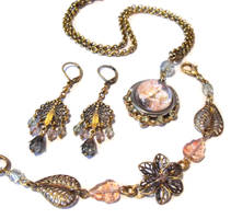 Rose Fairy Bracelet, Earrings by JLHilton
