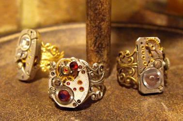 Steampunk Rings by JLHilton