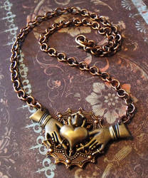 Steampunk Claddagh Necklace by JLHilton
