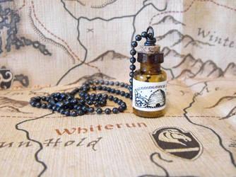 Skyrim: Honningbrew Mead Bottle Necklace by JLHilton