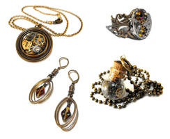 Steampunk Jewellery Collection 1 by JLHilton