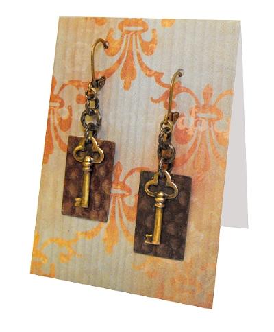 Key Earrings by JLHilton