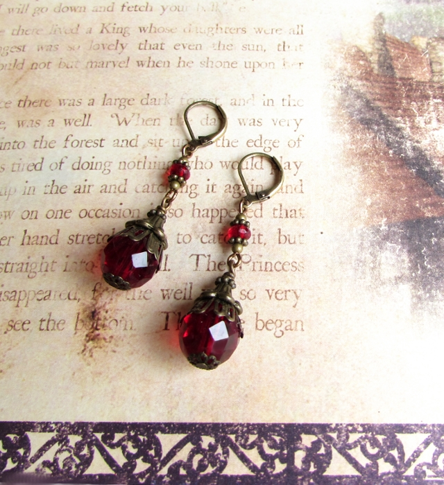 Red Wedding earrings by JLHilton