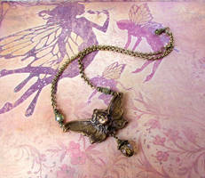 Art Nouveau Fairy Necklace by JLHilton
