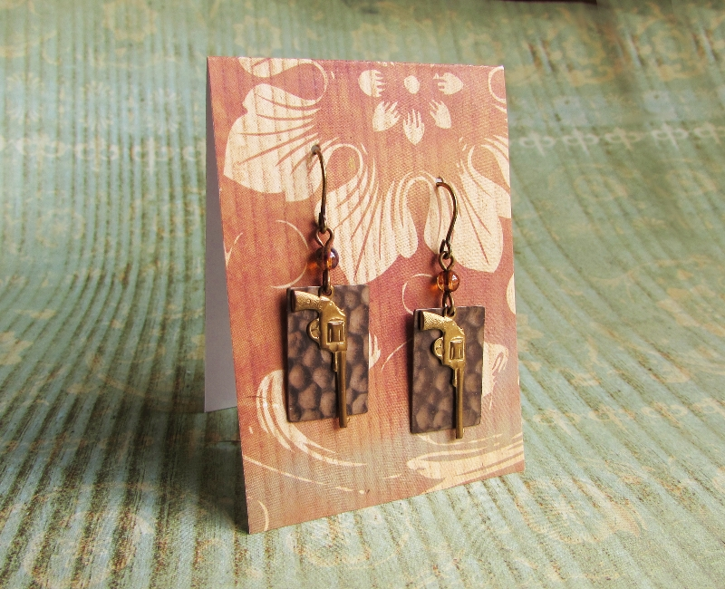 Aim to Misbehave earrings by JLHilton
