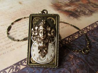 Clockwork Art Nouveau Angel 2 by JLHilton