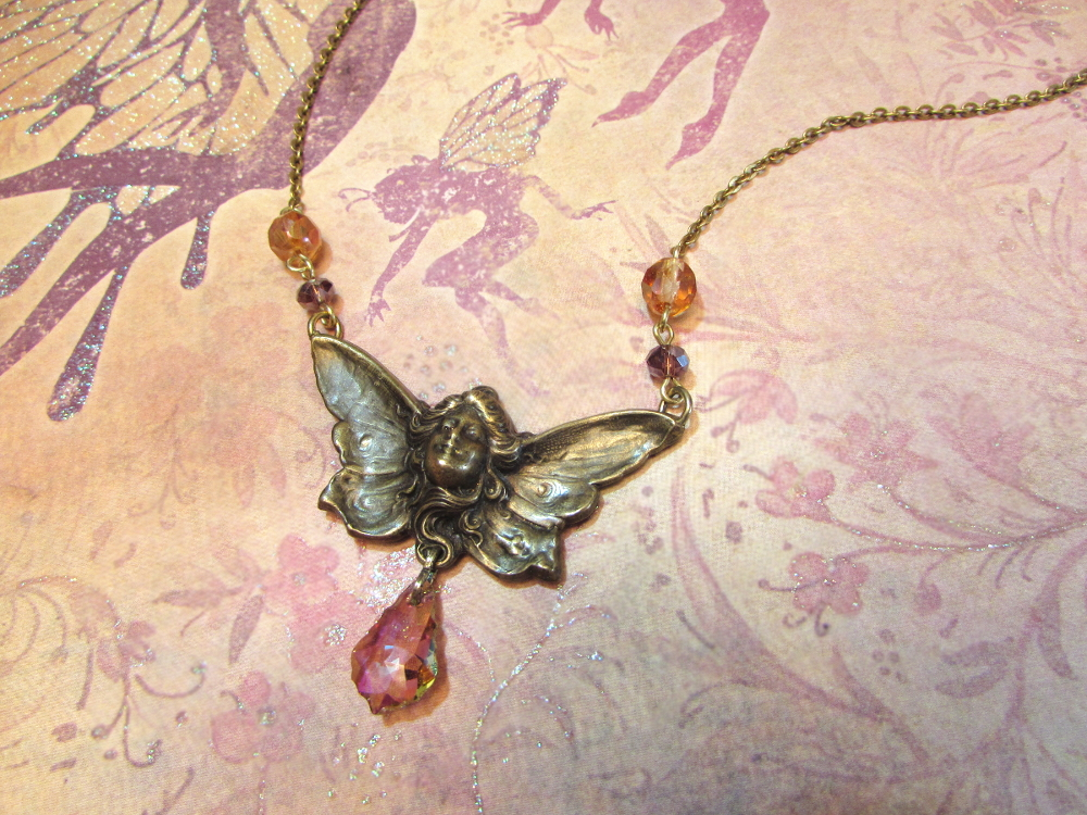 Another Art Nouveau fairy necklace by JLHilton