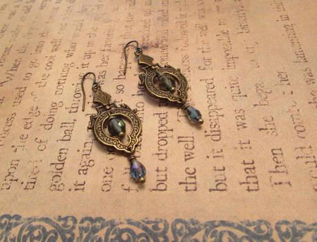 Neo-Victorian Art Nouveau Earrings
