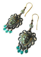 Sunken pirate ship chandelier earrings by JLHilton