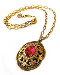Pink jewel pendant