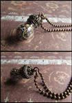 Steampunk reliquary pendant