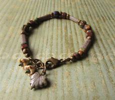 Rustic flower bracelet by JLHilton