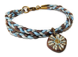 Braided silk bracelet by JLHilton
