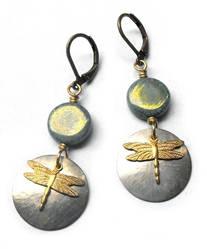Dragonfly earrings by JLHilton