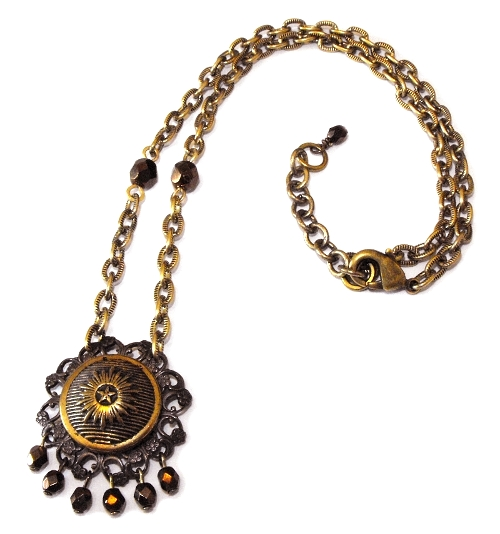 Star button necklace by JLHilton