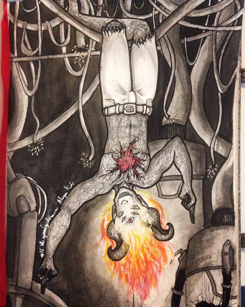 The young demon (chimere est fleur) by Aleyn-Kidd