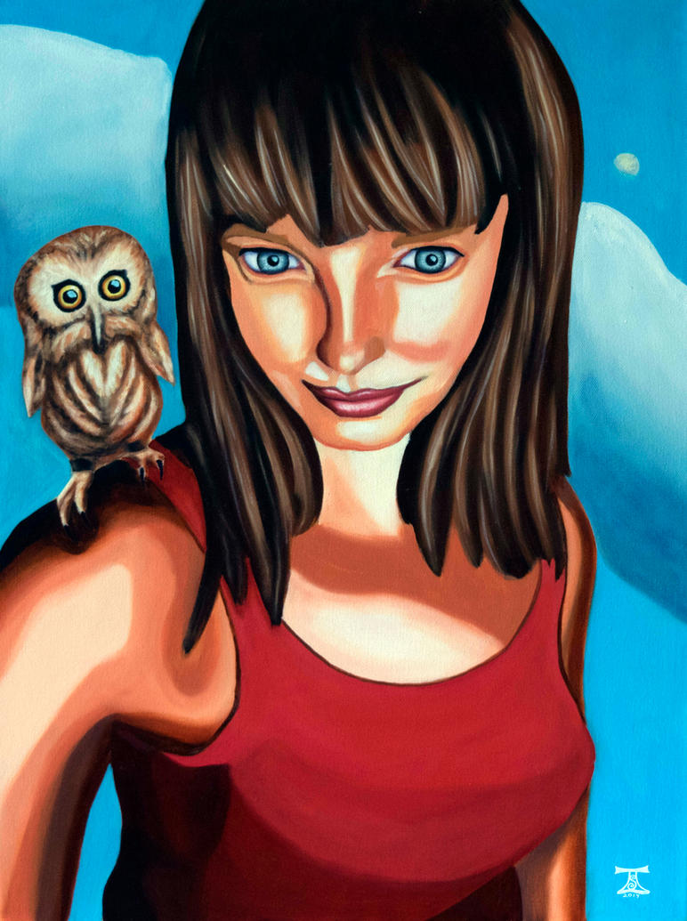 Selfie with Owlet by TaraSullivan