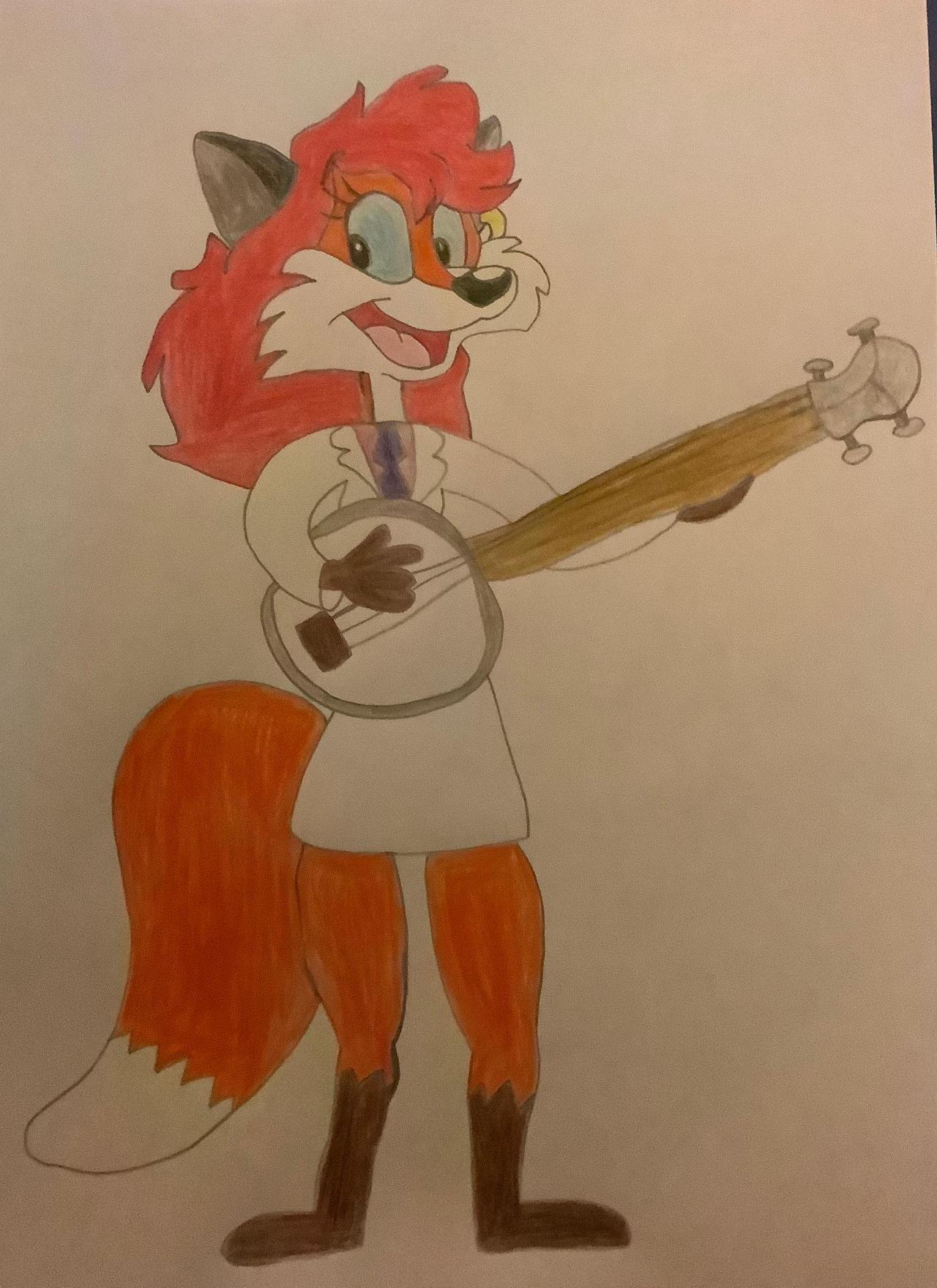 Vicki Fox Plays The Banjo.