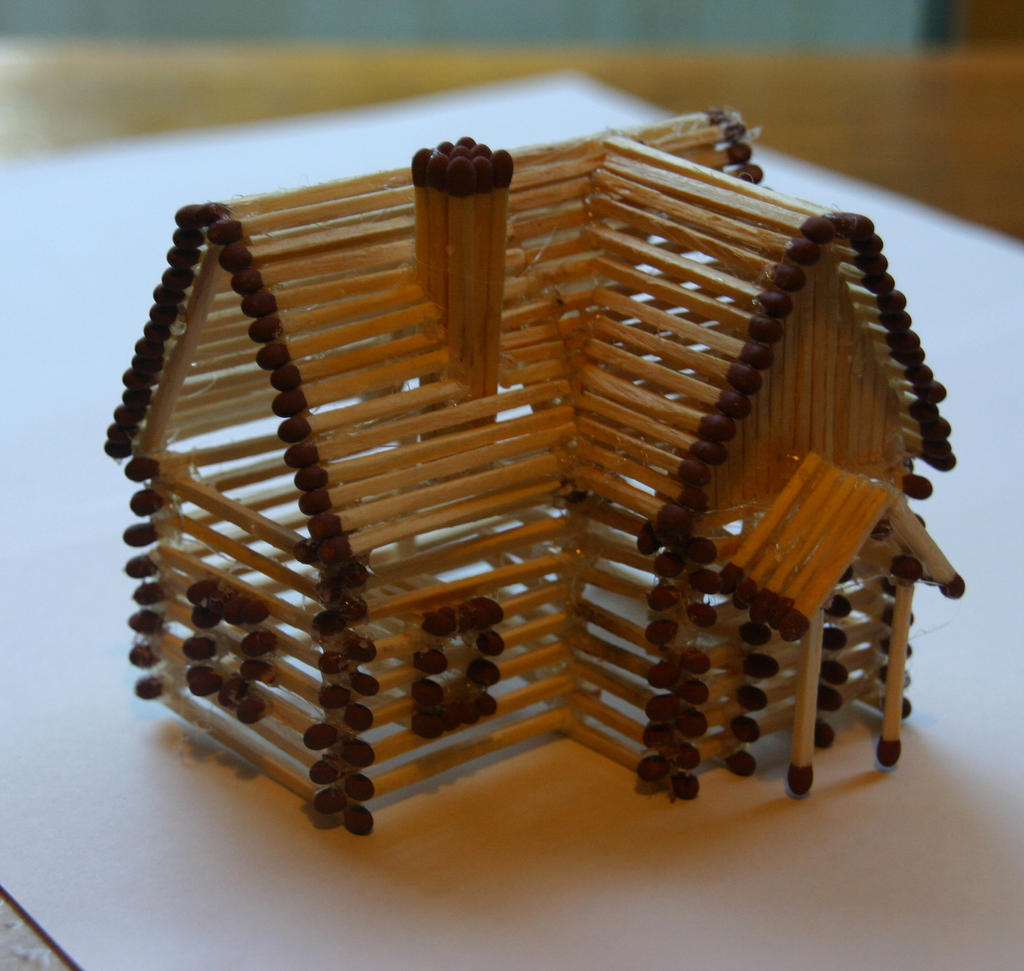 matchstick house by stephenfisher on deviantart