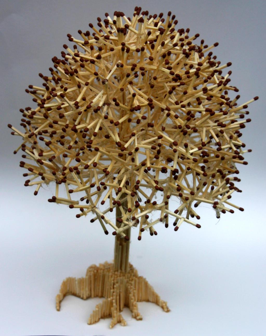 Как из спичек сделать дерево