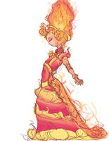 Flame Princess Sketch by Donimie