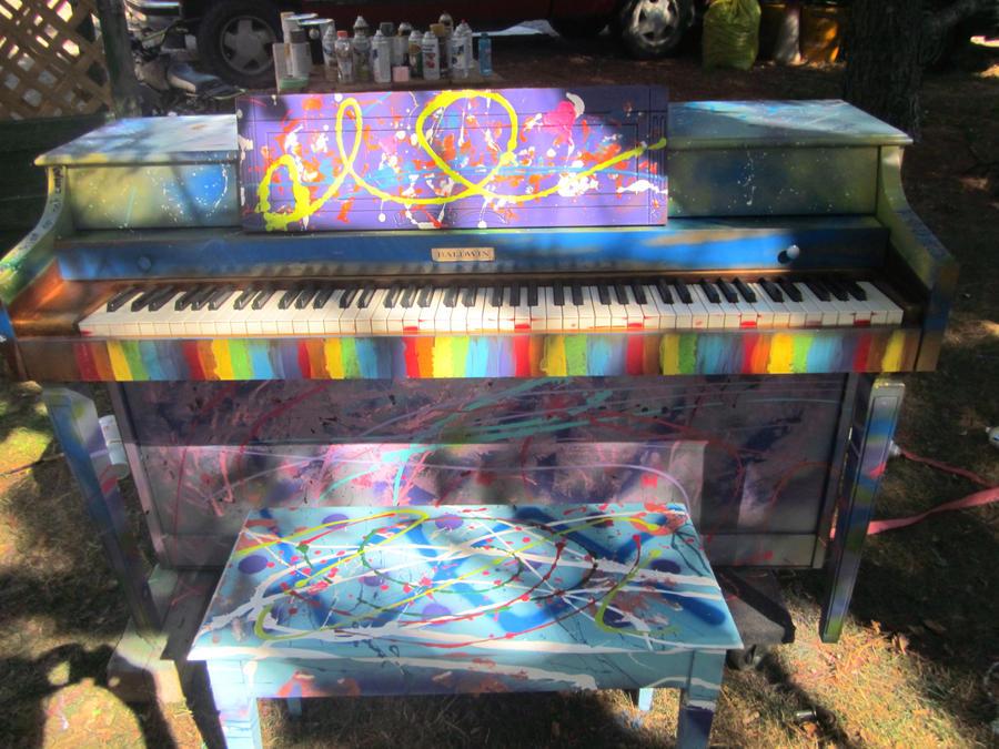 Rainbow Piano by darkangel12341