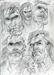 Zombie B.C. Caveman concept art by MonsterSaw