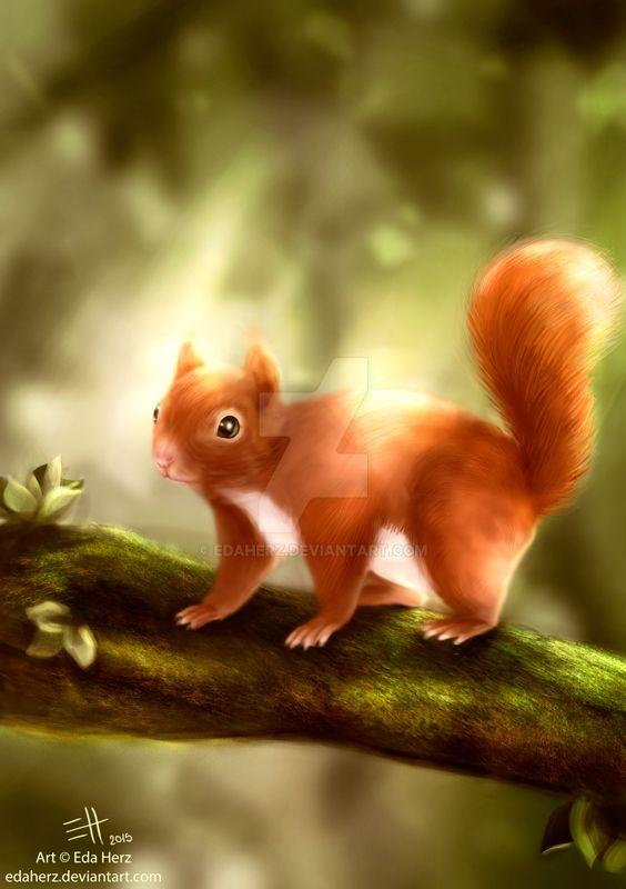 Red Squirrel by EdaHerz