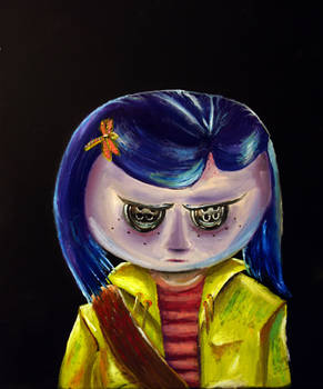 Coraline with Button Eyes