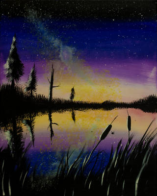 Milky Way Pond by Temporalvisions