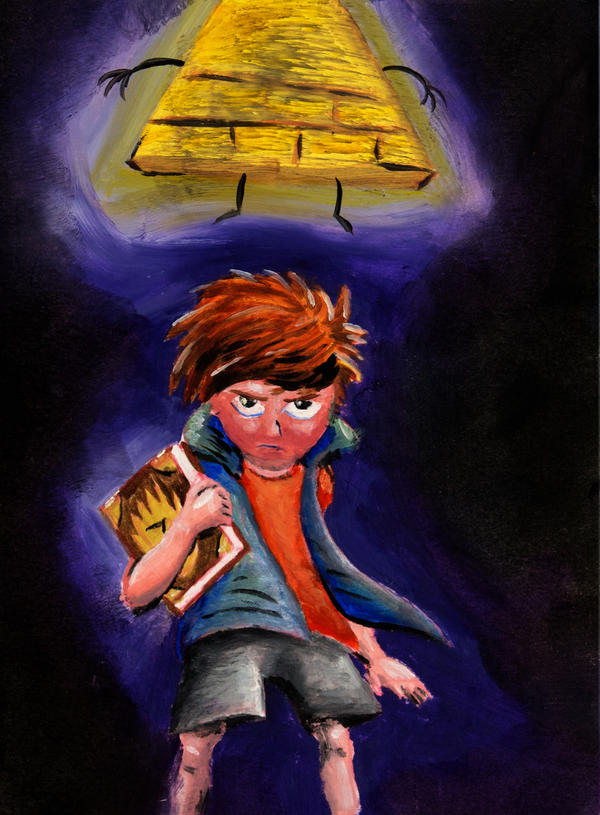 Dipper Pines and Bill Cipher by Temporalvisions