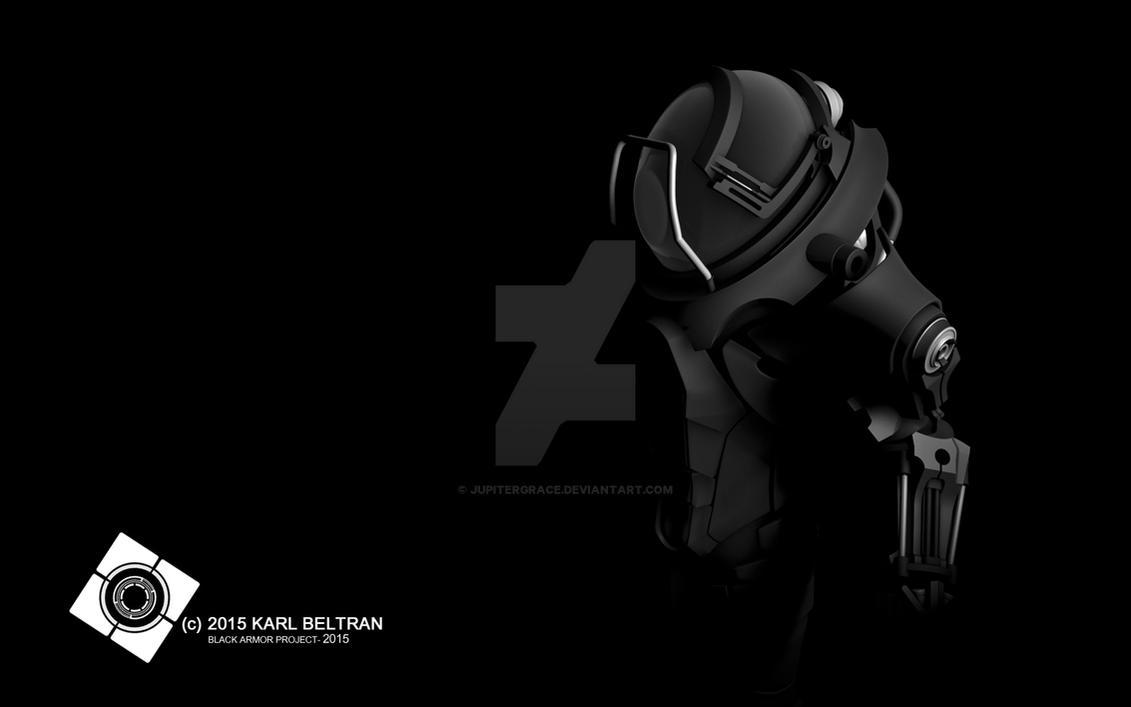 Sci Fi Armor Black Background 2 by JupiterGrace