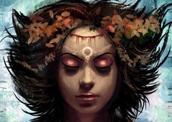 Minerva's face close up