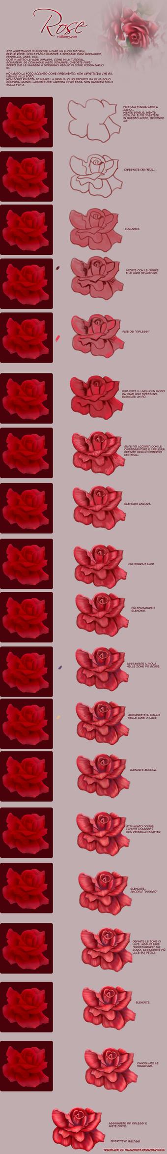 Tutorial painting rose -ITA- by ItalianTuts