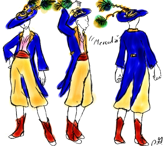 Character Analysis For Costume Design : Mercutio costume design by peevsie on deviantart