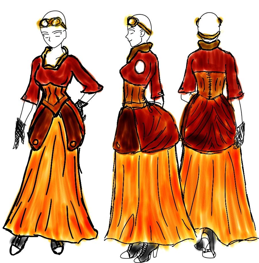Lady capulet costume