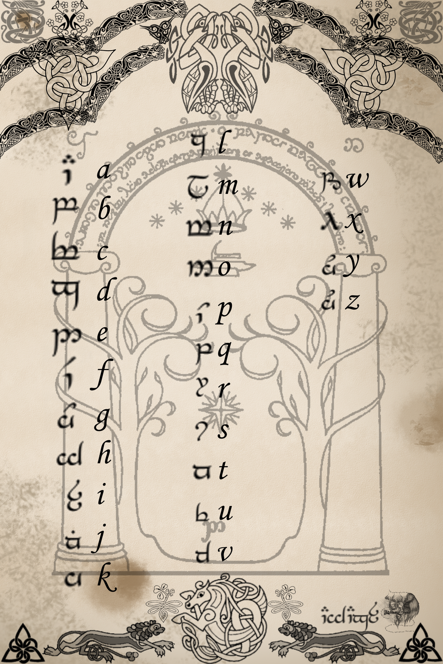 elvish writing Writing with elvish fonts this is a tutorial for some of the fonts and tools that can be used for writing in tengwar on a windows pc.